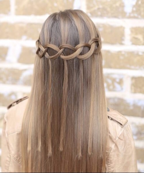 Loop Waterfall Braid prom updos