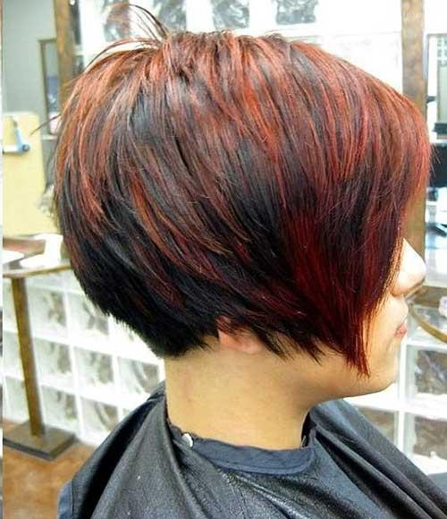 Peinados largos Pixie recta en capas