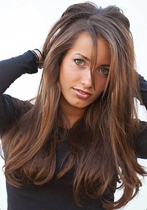 Peinados largos marrones oscuros-14
