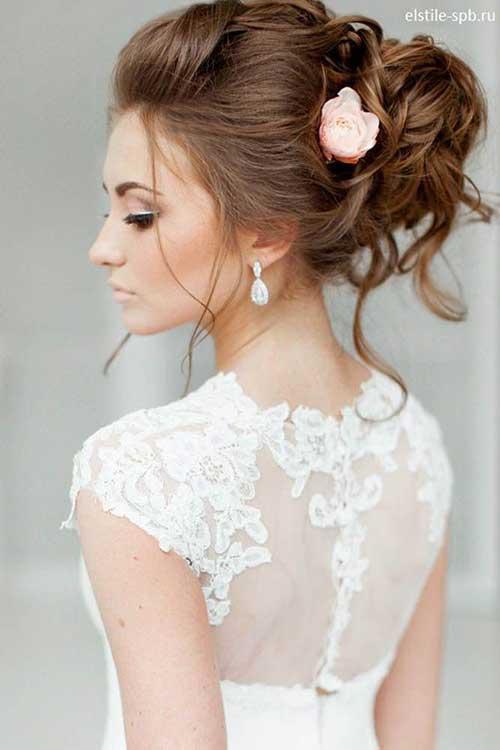 Estilos de cabello de la boda para cabello largo-7