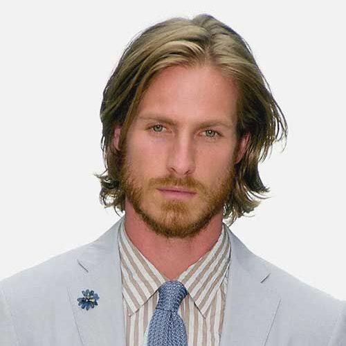 peinados de longitud media rubia recta para hombres