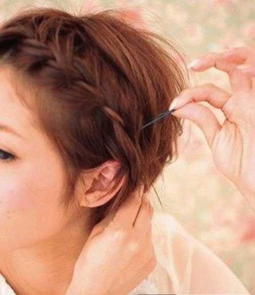 Perfect Halo Braid para cabello corto