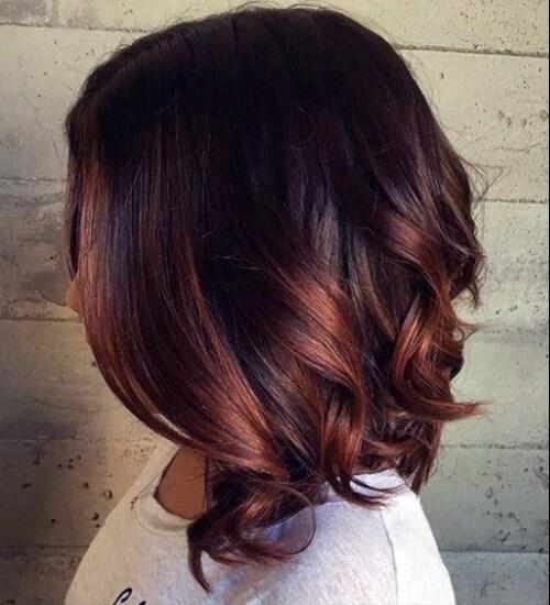 color de pelo ombre castaño