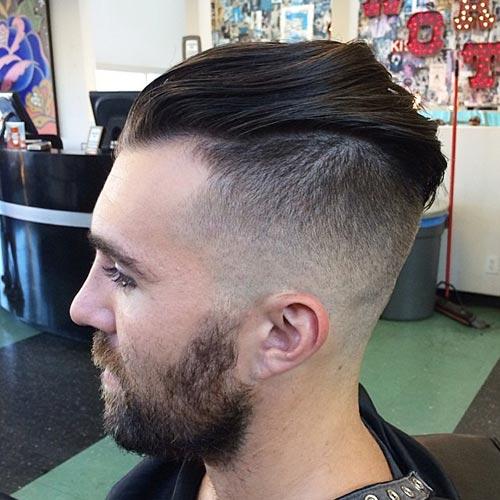 peinados de pomp nerviosos para hombres