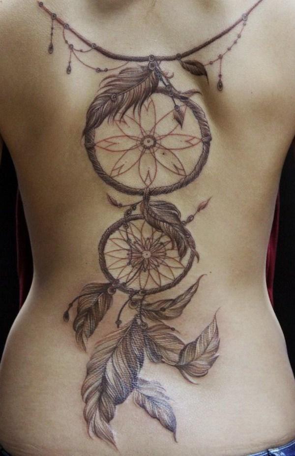 Tatuajes completos de atrapasueños.