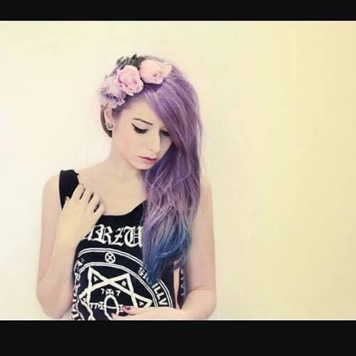 peinado emo romántico para niñas peinados emo largo para niñas