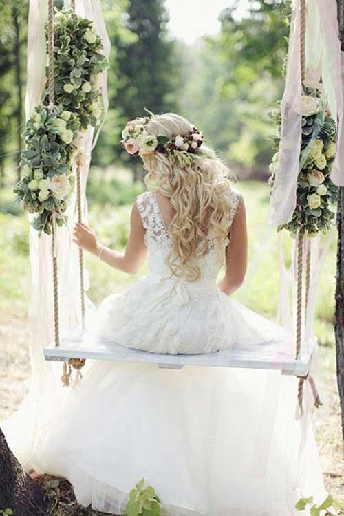 Flores en el peinado de la boda