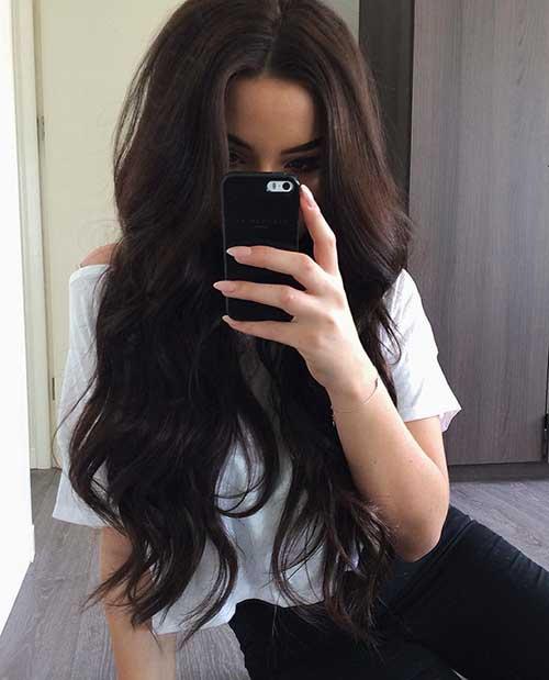 Peinados largos marrones oscuros-19