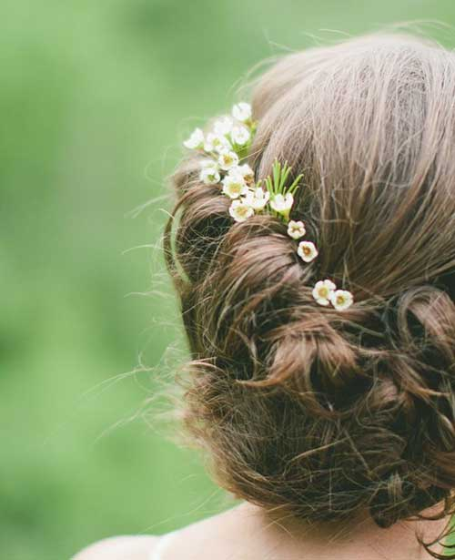 Vintage bodas peinados imágenes