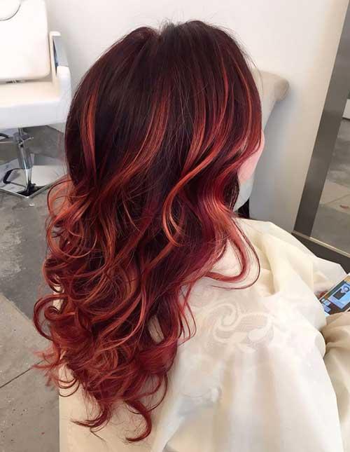 20 Peinados Rojos Largos Colores De Pelo Rojo 187 Largo