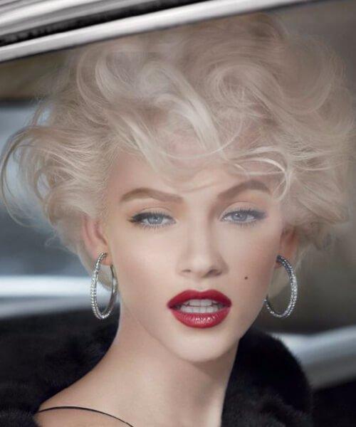 Peinados cortos actualizados de Marilyn