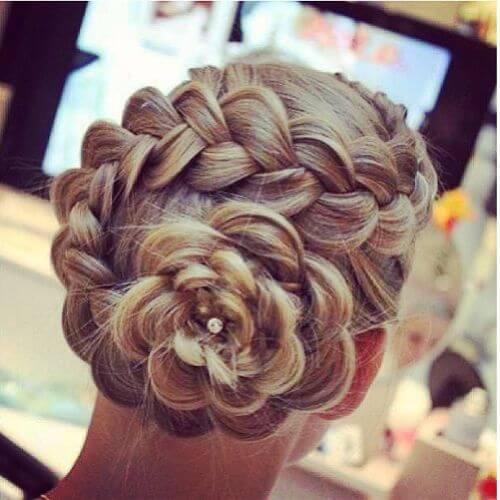 peinados de boda bollos trenzados