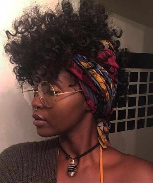 pañuelo en la cabeza peinados de niña negro