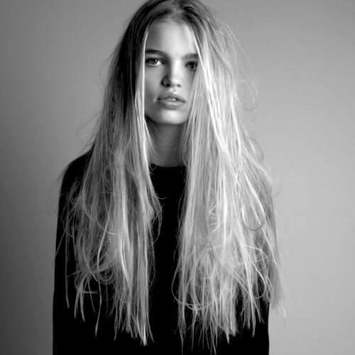 peinados sucios para el pelo lacio
