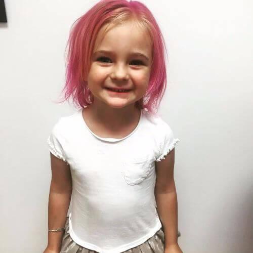 cabello rosado para niñas pequeñas