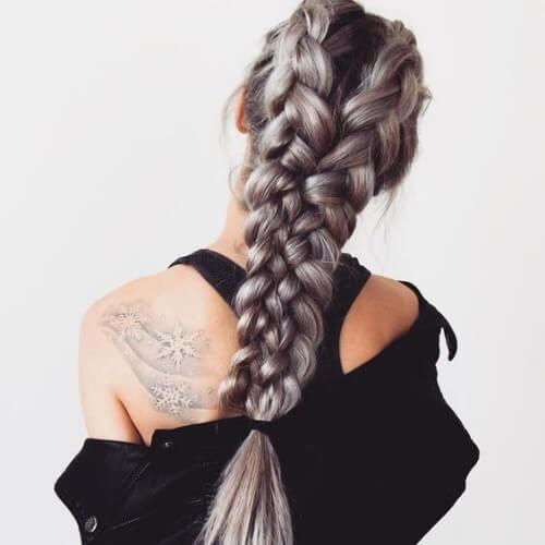 cuatro trenzas de trenza de cabello para cabello largo