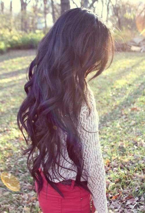 Peinados rizados para el cabello largo
