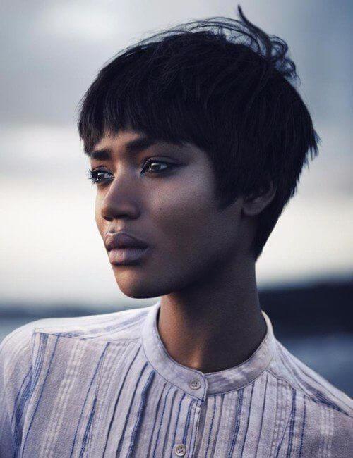 peinados cortos de encanto infantil para mujeres negras