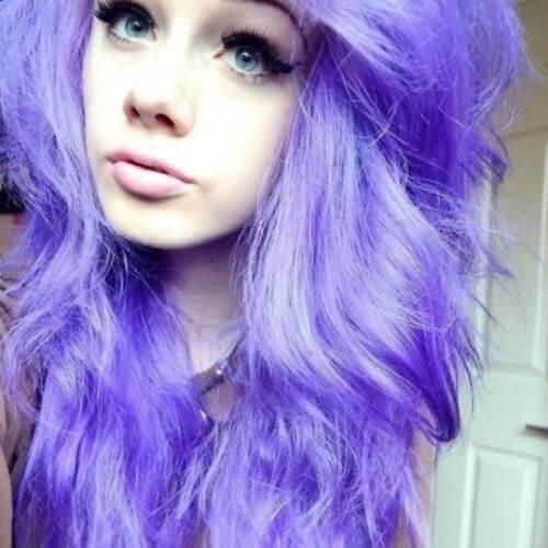 cabello purpura