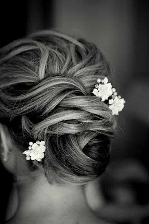 Bolso de pelo de flor Updo