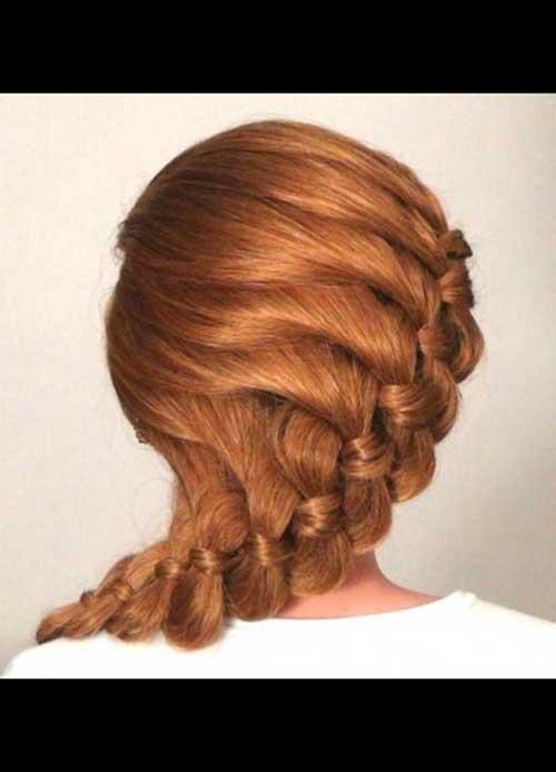 El mejor peinado romántico del baile de fin de curso para la idea del pelo largo