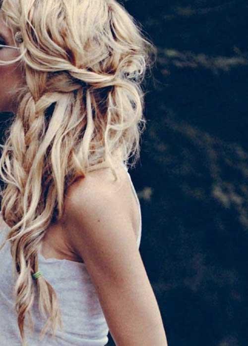 Peinados trenzados desordenados boda
