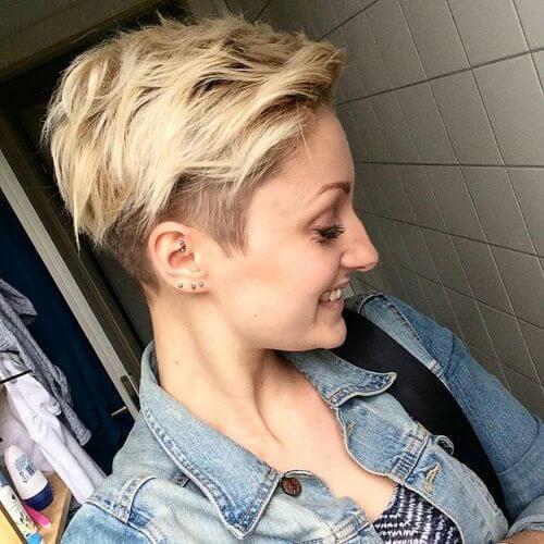 pelo corto en capas