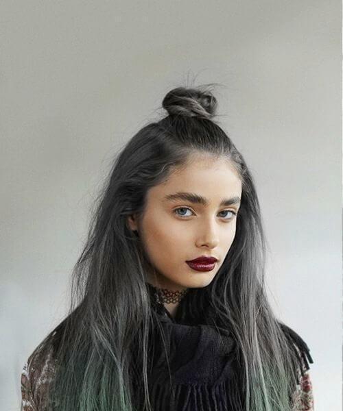 Lunar Tides Hair Pizarra gris Juniper Caída de pelo verde