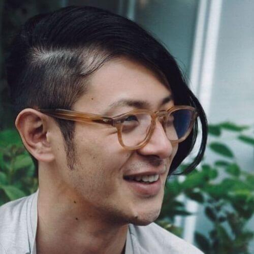 Un corte de pelo lateral afeitado