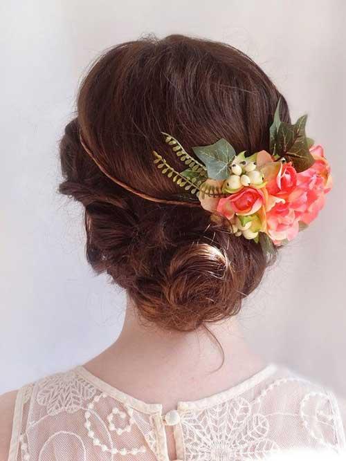 El mejor estilo de la boda Cute Flower Bun Hairdo