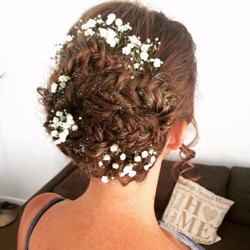 peinados de boda trenzados updos
