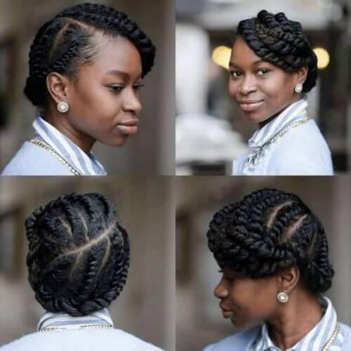 peinados naturales con trenzas de diosa