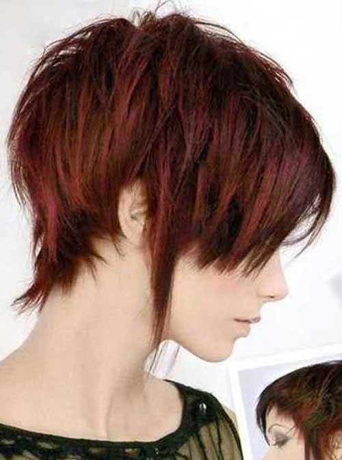 Ideas cortas del color del pelo en capas