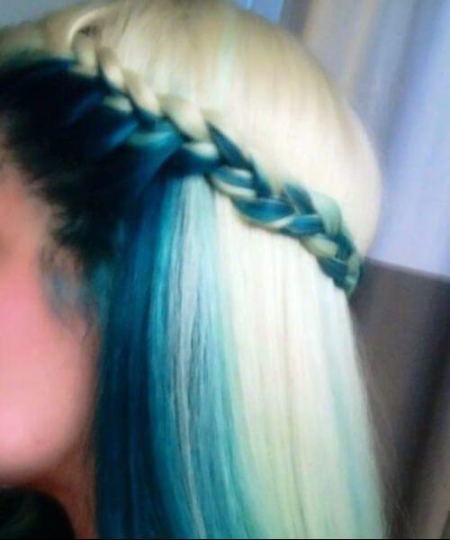 debajo del color del pelo verde azulado capa y marco