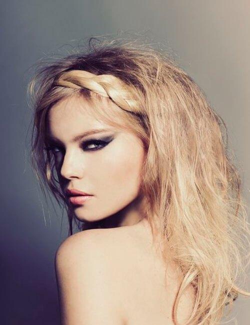 Updos sensual para cabello largo
