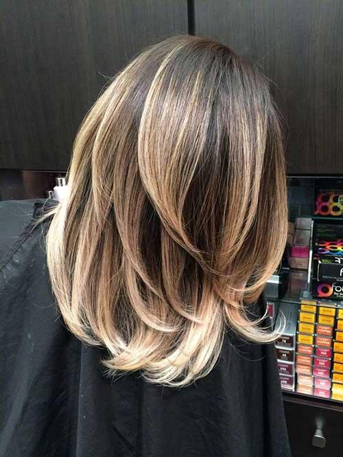 Balayage en el pelo corto