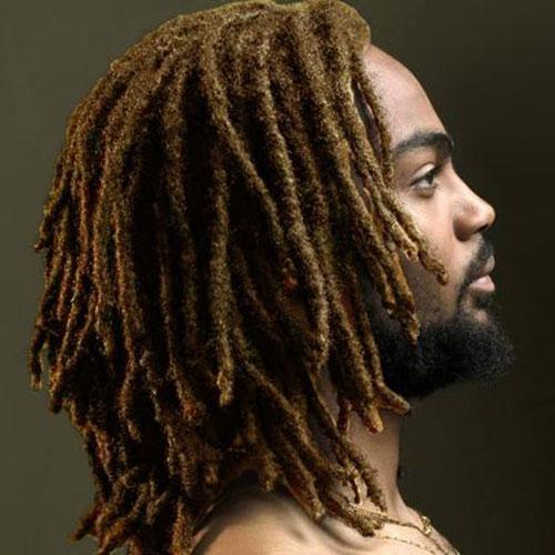 pequeños locs en peinados largos para hombres