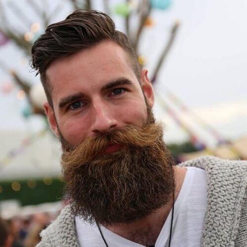 Peinados modernos para hombres con barba completa