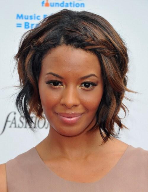peinados cortos de graduación para mujeres negras