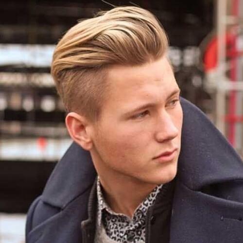 Peinado incrustado desconectado para los hombres