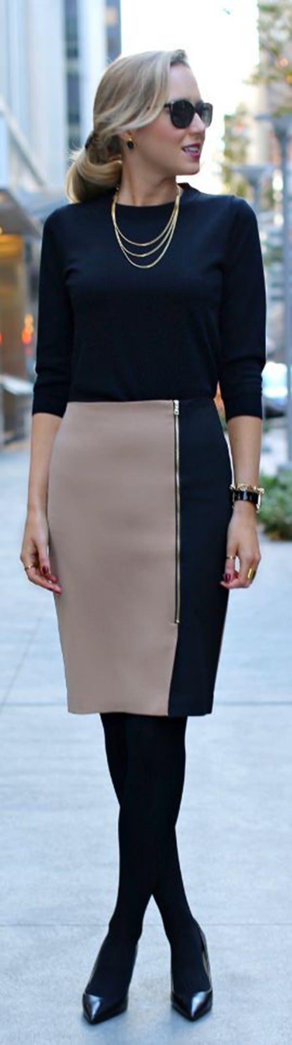 trajes de falda lápiz 44