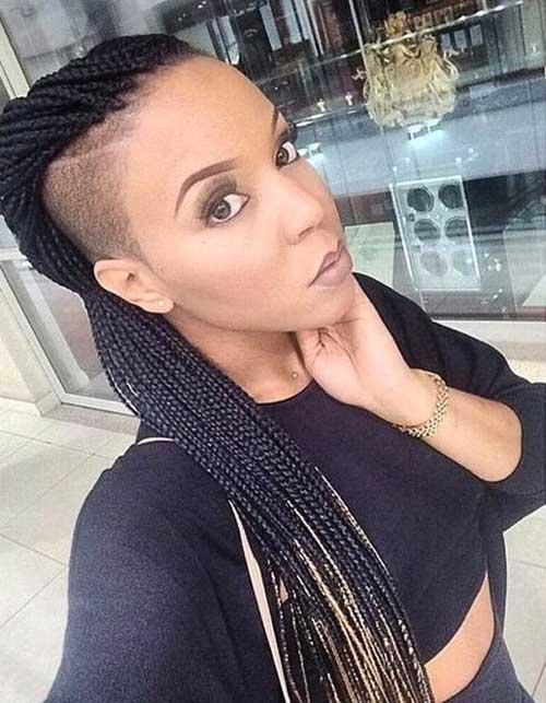 Peinados afeitados trenzas africanas