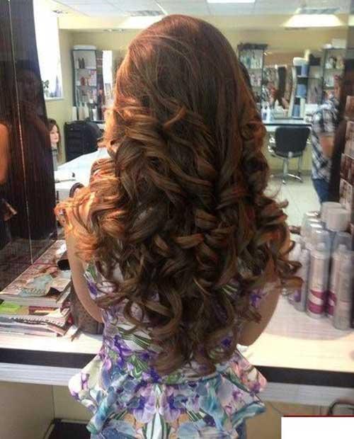 Lindos peinados rizados largos