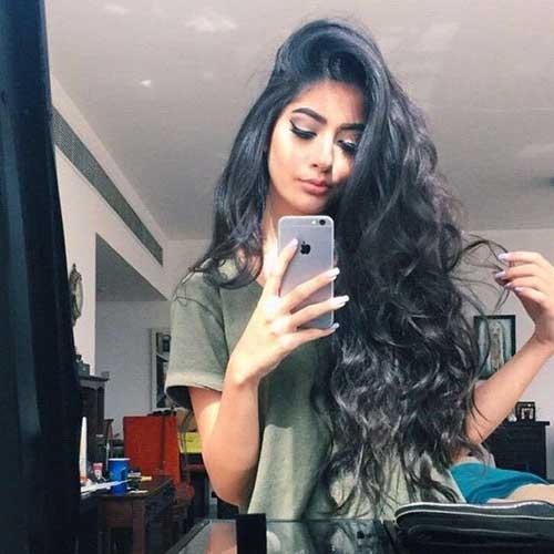 Peinados rizados 2018