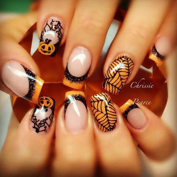 Halloween Gel Nails. Ideas de arte de uñas de Halloween.