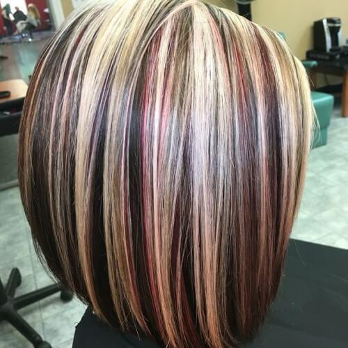 Mezcla rubia, roja y marrón
