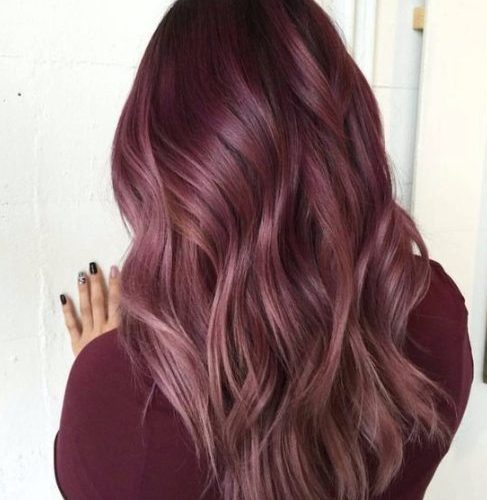 color de pelo balayage rosa palo rosa