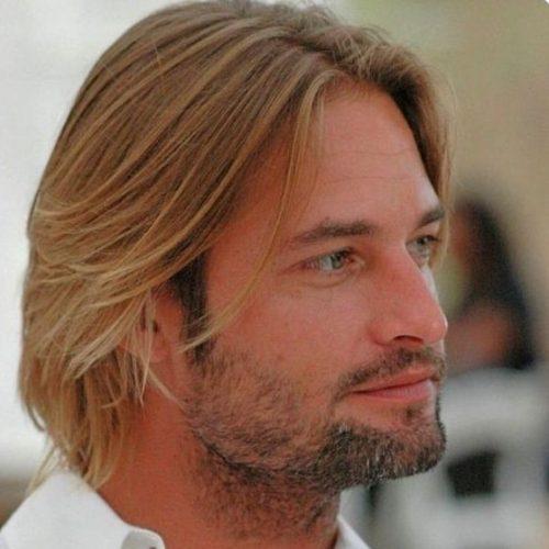peinados de longitud media enderezado casual para hombres