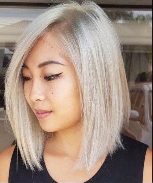 peinados de longitud de hombro de platino