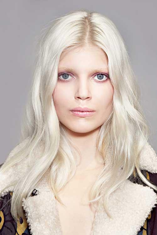 Peinados blancos rubios
